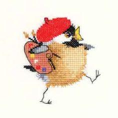 Artist Chick - Chickadees Cross Stitch Kit by Heritage Crafts