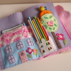 amazing hand stitched & appliqued felt crafty activity pack from roxycreations on etsy.