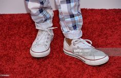 Actor Miles Brown, shoe detail, arrives at the 8th Annual Television Academy Honors at the Montage Beverly Hills on May 27, 2015 in Beverly Hills, California.