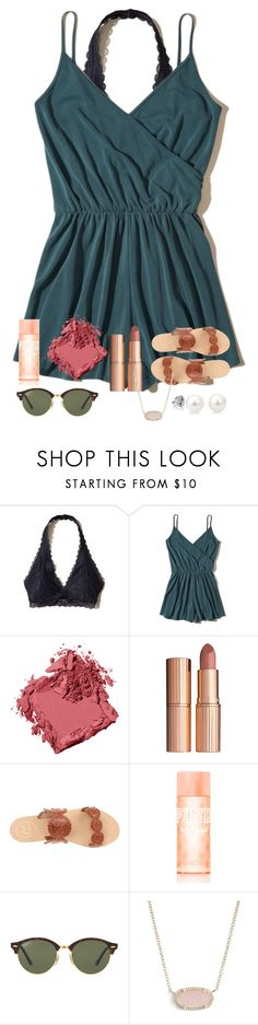 """""""HAPPY SPRING YALL"""" by abby14310 ❤ liked on Polyvore featuring Hollister Co., Bobbi Brown Cosmetics, Charlotte Tilbury, Jack Rogers, Ray-Ban and Kendra Scott"""