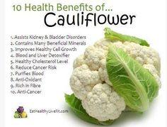 10 health benefits of cauliflower #plantbased #diet