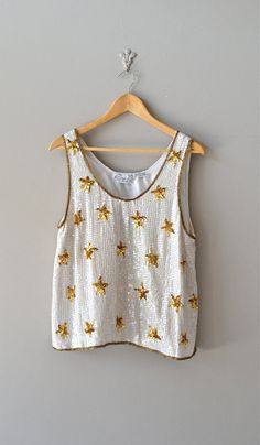sequin tank top / shimmer top / Oh My Stars tank