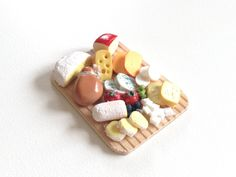 Luxury miniature cheese plate, handmade, 1/12 - one inch scale miniature food/ dollhouse food by SparkleWithMeSweden on Etsy