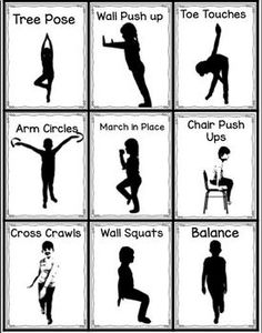 Brain Gym Posters (word doc) photos of movements with