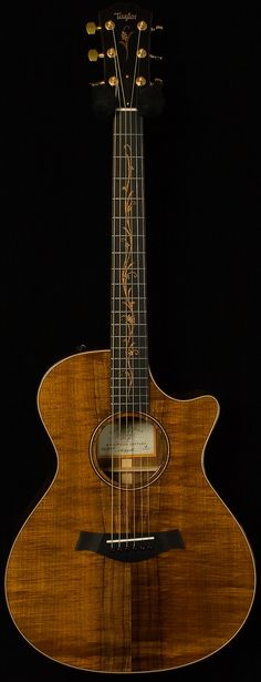 taylor - cv k22 ce, koa. beautiful fingerboard inlay. One of my dream Acoustic!