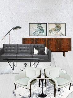 modern interior design furniture mcm mid century retro