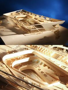 Model of the Surrey City Centre Library in Surrey, British Columbia by Bing Thom Architects