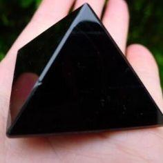 Natural Obsidian Crystal Pyramid