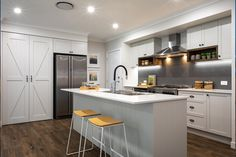 A stunning Hamptons style kitchen!