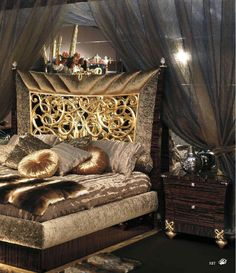 Be amazed discovering the best luxury home decor  design selection at  luxxu.net ! Gold Bedroom, Bedroom Wall, Bedroom Sets, Mirrored Bedroom, Master Bedroom, Bedroom Decor, Cool Rooms, Beautiful Bedrooms, Bedroom Furniture