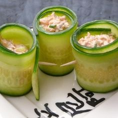 Salmon Cucumber Rolls - a simple low carb gluten free appetizer full of crisp flavors.