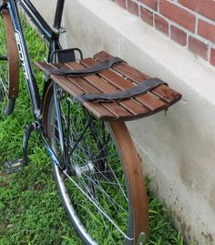 Eliptical wooden bike basket by offcutstudio on Etsy, $80.00