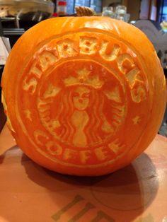 Starbucks punk pin carving Halloween