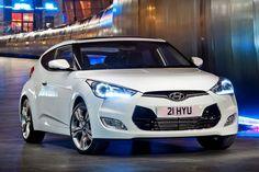 White Hyundai Veloster