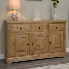 The Coniston Rustic Solid Oak Large Sideboard provides a huge amount of storage over three drawers and three cupboards. Buy this rustic oak wood furniture in store and online today from Oak Furniture UK. Furniture, Oak Furniture Living Room, Oak Furniture, Large Sideboard, Furniture Uk, Oak Furniture Superstore, Cheap Living Room Sets, Oak Shelves, Solid Oak Furniture
