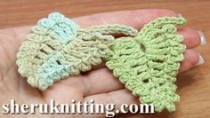 Crochet Leaf  With Picots Around Tutorial 13