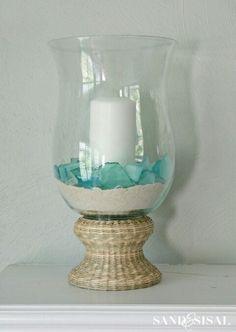 Love the idea & simplicity of the sand & sea glass