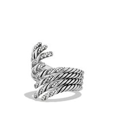 Willow Four-Row Open Ring with Diamonds