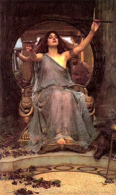 """""""Circe offers the cup to Ulysses"""" John William Waterhouse #preraphaelite #art #witchcraft"""