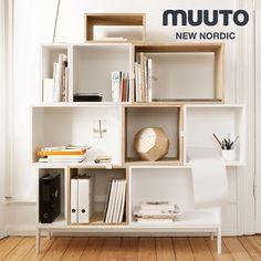 【楽天市場】【MUUTO/ムート】STACKED/スタックド L/ホワイトバックボードデザイン:JDS Architectsフィンランド/システム棚/Shelf System/シェルフ/北欧【RCP】:Shinwa Shop 楽天市場店