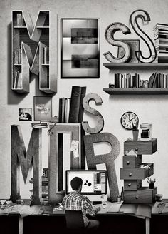 via TypeEverything.com Mess is more #Type #Illustration