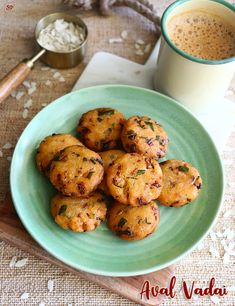 Instant aval vadai recipe | Poha vada | Flattened rice vadai recipe Snacks To Make, Tea Time Snacks, Quick Snacks, Veg Recipes, Snack Recipes, Food Videos, Food Print, Curry, Appetizers