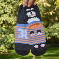 2016 New Cute Animals High Socks 3D Dogs Cartoon Kawaii Cotton Warm Striped Sock For Women Men Harajuku Autumn Winter Art Socks