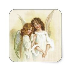sold at @Louise-clémence Grenier Inc. : #Vintage #Christmas #Angels #Sticker thanks to the customer!