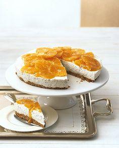 Mohn-Mandarinen-Torte - Kühlschrankkuchen: Kuchen ohne Backen - [LIVING AT HOME]