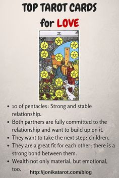 Top Tarot Cards for Love 10 of pentacles