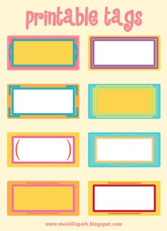 etiquettes imprimables | free printable cheerfully colored tags – ausdruckbare Etiketten ...