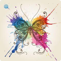 Pintura de mariposa