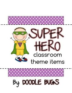 Hello! Thank you for checking out my SUPER HERO items! This is a fun pack that includes:{1} Calendar Cards- numbers 1-31 .. or use these as cou...