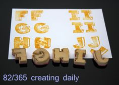 """Project """"365 - creating daily"""" day 82:  F-J stamps Anke Humpert 3/2014 #365creatingdaily"""