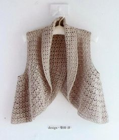 Un gilet croisé dans le dos au crochet - La Grenouille Tricote