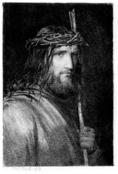 Portrait of Christ by Carl Heinrich Bloch