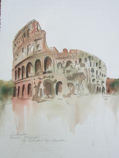 Roma Cloiseum  sketch in plein air