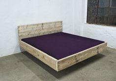 Betten   Design Bett Aus Bauholz 200 X 200 Schwebend   Ein Designerstück  Von UpCycle