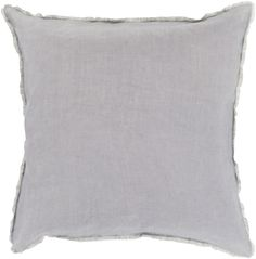 A soft, frayed edge creates a pretty and unexpected detail on this simply exquisite pillow.
