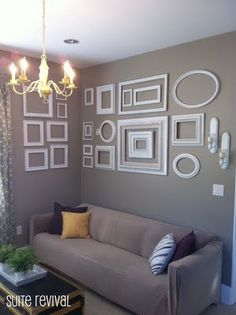 Updated white frame gallery wall.
