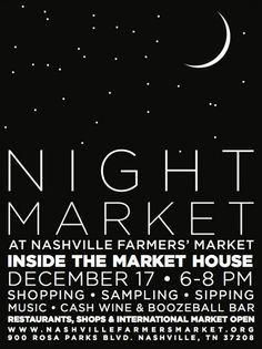 Night Market Poster Nashville Farmers' Market