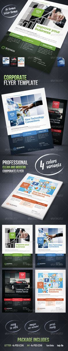 Corporate Flyer Template ------------------------------- Check out this great #graphicriver item 'Corporate Flyer Template' http://graphicriver.net/item/corporate-flyer-template/3075362?ref=25EGY