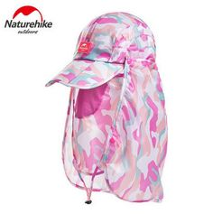 Naturehike Breathable Summer Outdoor Sports Uv protection Hiking Camping  Fishing Face Mask Hats Caps Ear Protection 7371c71075f2