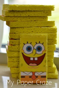 43 Ideas for birthday invitations diy Birthday Party Decorations Diy, Kids Birthday Party Invitations, Diy Invitations, 2nd Birthday Parties, Birthday Ideas, Birthday Bash, Spongebob Crafts, Spongebob Birthday Party, Spongebob Party Ideas