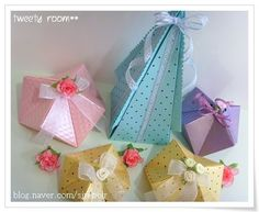 several pic tutes for cute origami boxes