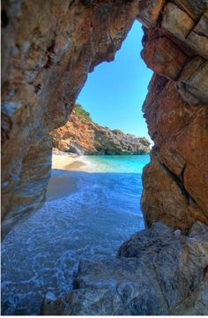 beach of Milopotamos, Pilio, Greece - Click image to find more Travel Pinterest pins