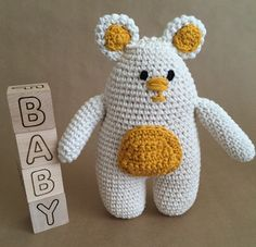 Bear toy, Bear amigurumi, handmade bear,Off white bear by Sanaya321 on Etsy