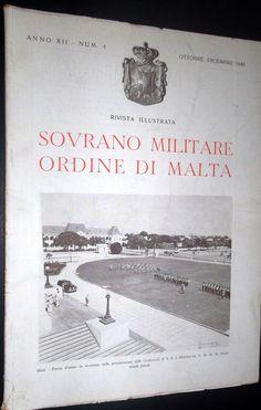 Rivista Illustrata - Ottobre-Dicembre 1948. #OrderofMalta #SMOM