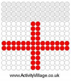 England Flag Fuse Bead Pattern