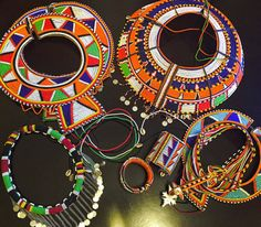 Vintage African Maasai Mara Wedding Necklaces by DivineEminence